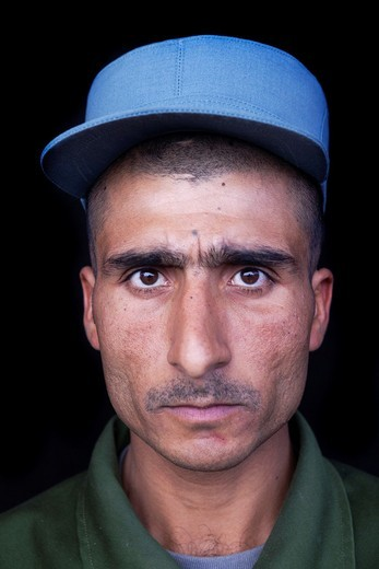Stock Photo: 1566-893614 Afghan police trained by Dutch military
