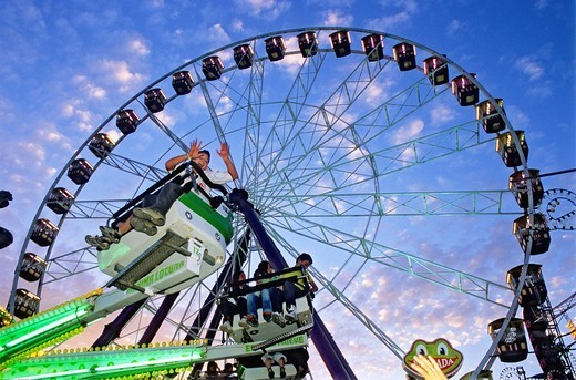 Stock Photo: 1566-893641 Feria of Granada Big wheel in Fair,Granada, Andalucia, Spain