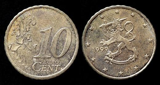 Stock Photo: 1566-893661 10 Euro cent coin, Finland, 1999