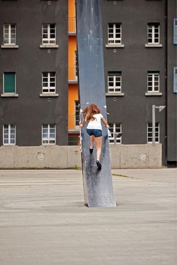 in front of Geneva University, Geneva, Switzerland : Stock Photo