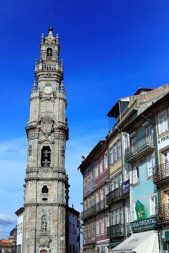 Stock Photo: 1566-894044 Clerigos tower, Porto, Portugal