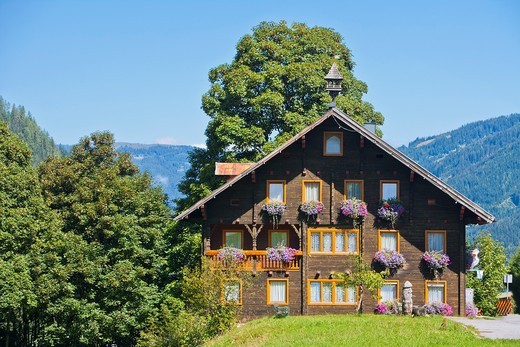 Stock Photo: 1566-894676 Traditional house in Untertauern, Austria, Europe