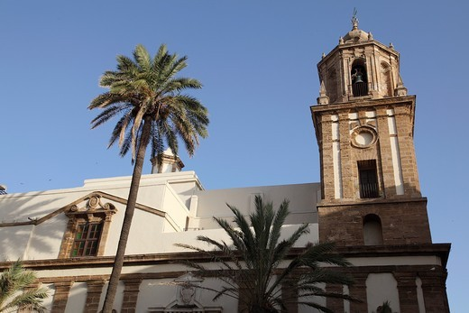 Stock Photo: 1566-894821 Church of San Andres, Cadiz, Andalusia, Spain, Europe