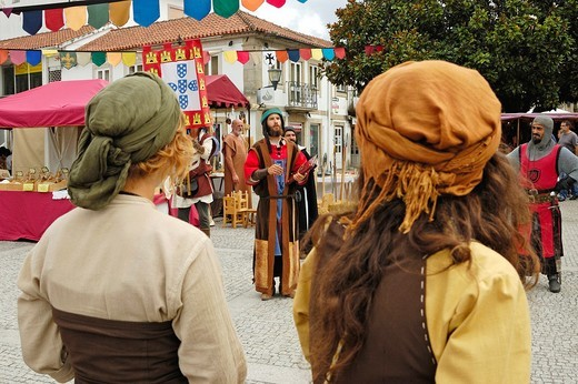 Stock Photo: 1566-894993 The annual medieval festival  Vila Nova de Cerveira, Portugal