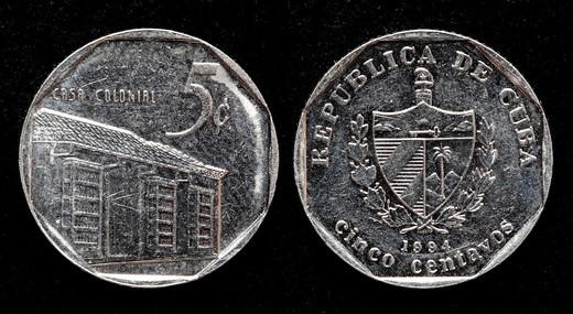 Stock Photo: 1566-895080 5 centavos coin, Cuba, 1994