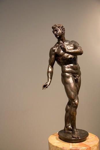 Stock Photo: 1566-895197 Bronze male nude by Tiziano Aspetti at getty Museum - California