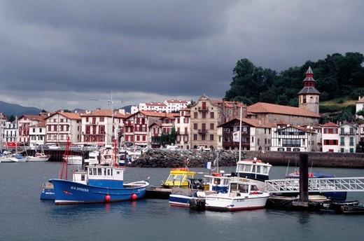 France, Basque Country, Saint Jean de Luz port : Stock Photo
