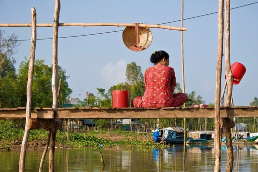 Daily life, Chau Doc, Vietnam : Stock Photo