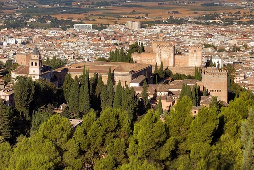 Stock Photo: 1566-896570 Alhambra,Granada, Andalusia, Spain