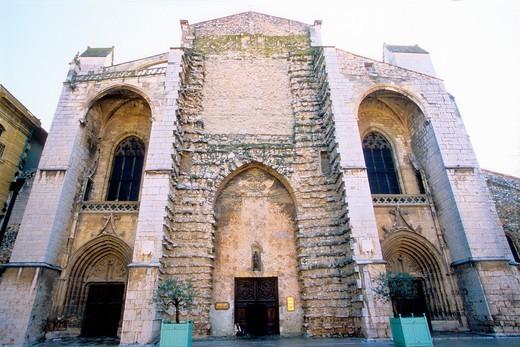 The Sainte Marie Madeleine basilica of Saint Maximin, Provence, Var, 83, PACA, France, Europe : Stock Photo