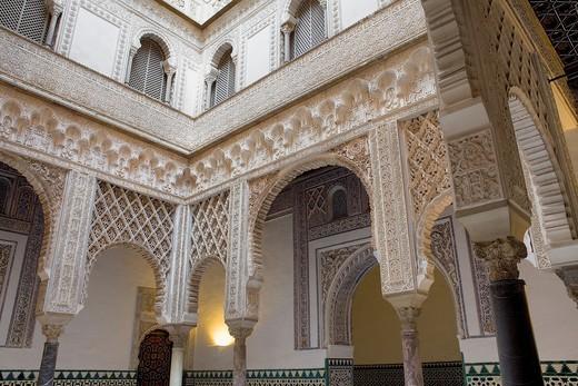 Royal Alcazar,'Patio de las Muñecas',Courtyard of the Wrists,Sevilla,Andalucía,Spain : Stock Photo