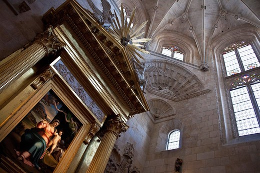 Interior of the Burgos Cathedral : Stock Photo