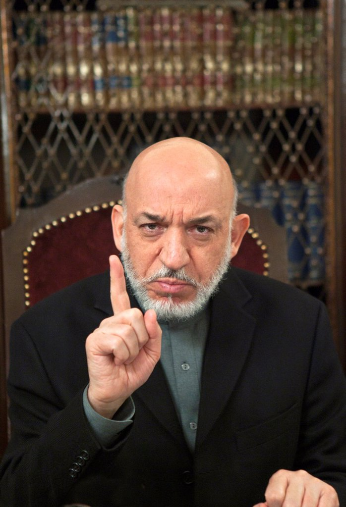 Stock Photo: 1566-898264 Hamid Karzai, president of Afghanistan since 2002