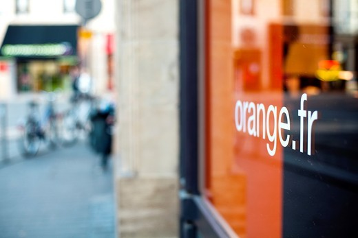 Stock Photo: 1566-898824 Orange Store in Bordeaux  Gironde  Aquitaine  France