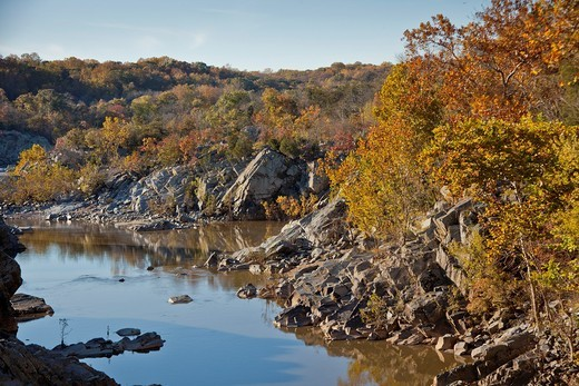 C & O National Historic Park, scenic views in autumn : Stock Photo