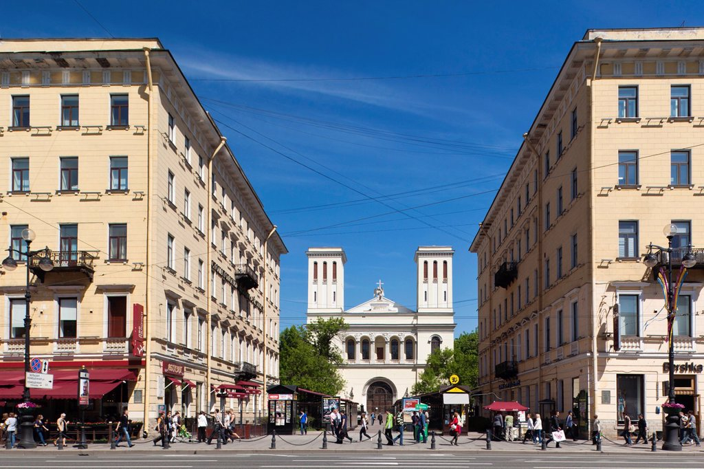 Russia, Saint Petersburg, Center, Nevsky Prospekt buildings : Stock Photo