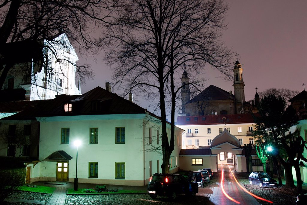 Stock Photo: 1566-899844 St  Teresa Church and Holy Trinity Uniates Church, Vilnius, Lithuania