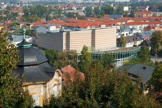 View from terrace St  Michael to Concert Hall-Bamberg : Stock Photo