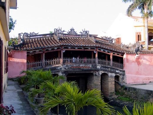 Stock Photo: 1566-900627 Landmark Japanese Covered Bridge Hoi An Vietnam