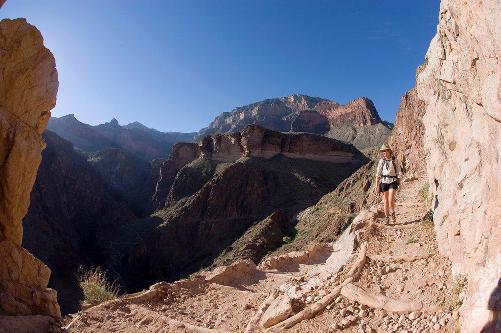 Stock Photo: 1566-900974 Angel Bright Trail, Grand Canyon National Park, Arizona