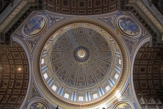 Italy, Rome, Vatican, St Peter´s Basilica, interior, dome, cupola, : Stock Photo