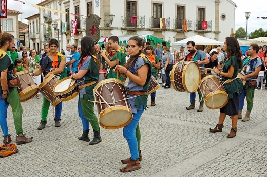The annual medieval festival  Vila Nova de Cerveira, Portugal : Stock Photo