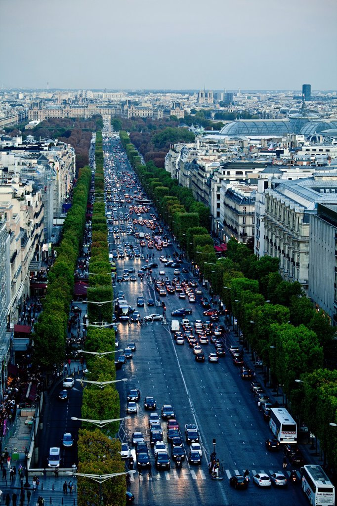 Stock Photo: 1566-902504 View of Champs Elysees, Paris, Ile de France, France, Europe
