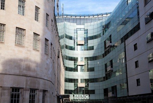 Stock Photo: 1566-904798 Modern section of Broadcasting House on Langham Place in London UK