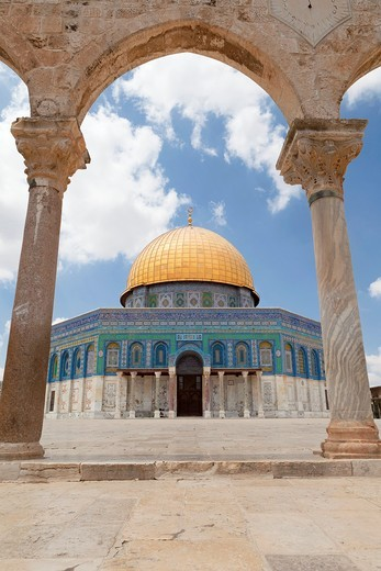 Stock Photo: 1566-904829 The Dome of the rock, east Jerusalem, Palestine