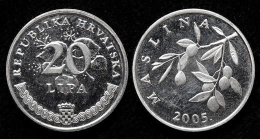 20 Lipa coin, Croatia, 2005 : Stock Photo