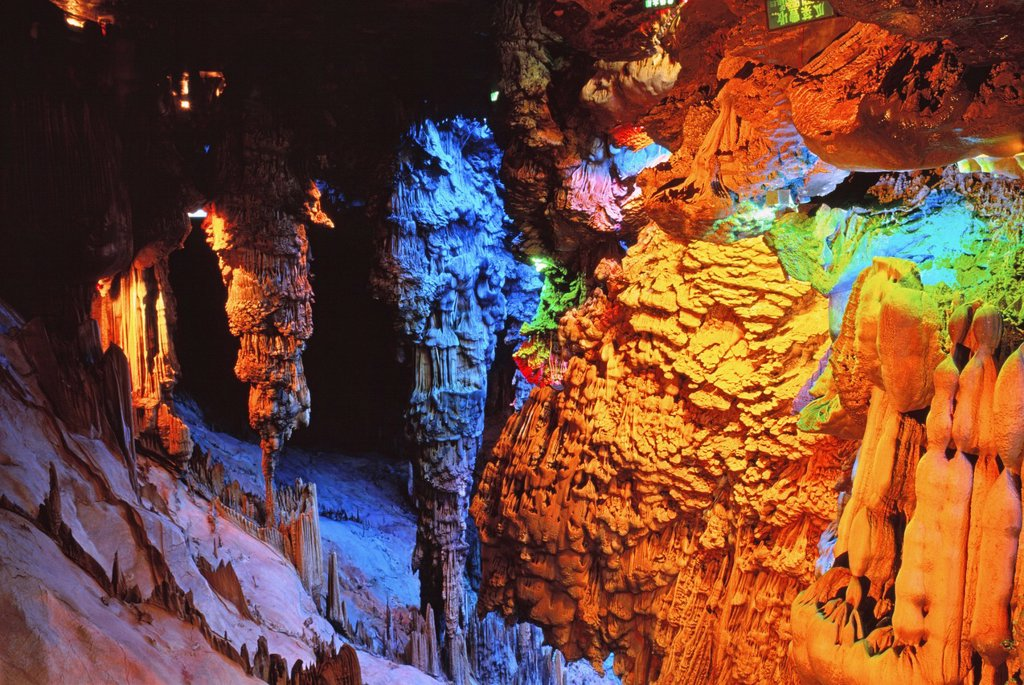 Stock Photo: 1566-905503 Reed Flute Cave, Guilin, China