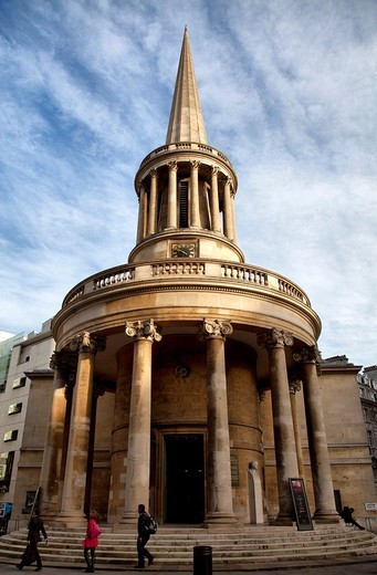 All Souls Church designed by John Nash on Langham Place - London - UK : Stock Photo