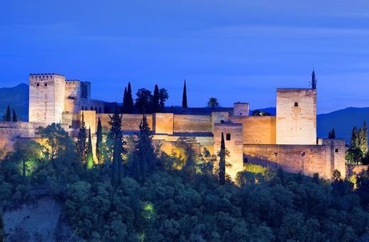 Alcazaba,Alhambra, Granada Andalusia, Spain : Stock Photo