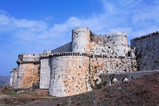 Stock Photo: 1566-906485 The crusader castle Krak Des Chevaliers, Syria