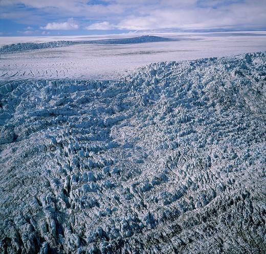 Stock Photo: 1566-906498 Glacial Surge, Hagafellsjokull Glacier, Langjokull Ice Cap, Iceland