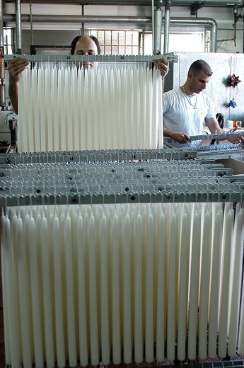 Stock Photo: 1566-906692 Shabat candles manufacturing line