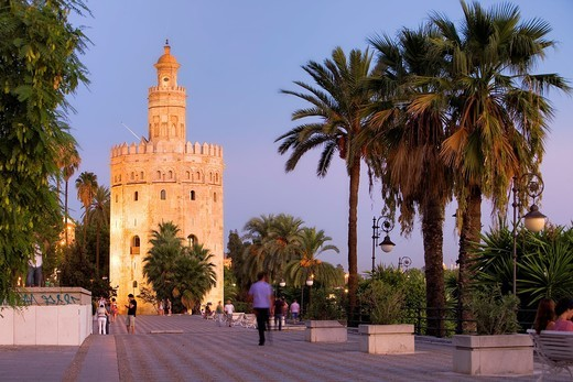 Torre del Oro,Gold tower,Sevilla,Andalucía,Spain : Stock Photo
