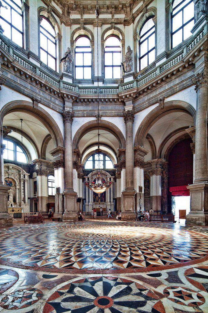 Interior of La Salute church, Dorsoduro, Venice, Italy : Stock Photo