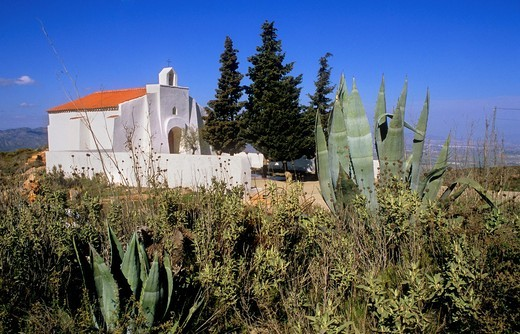 Church Hamlet of La Carrasca Sierra de Cabrera, Almeria province, Andalucia, Spain : Stock Photo