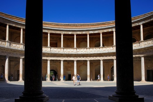 Stock Photo: 1566-907391 Charles V´s palace, Alhambra  Granada, Andalusia  Spain