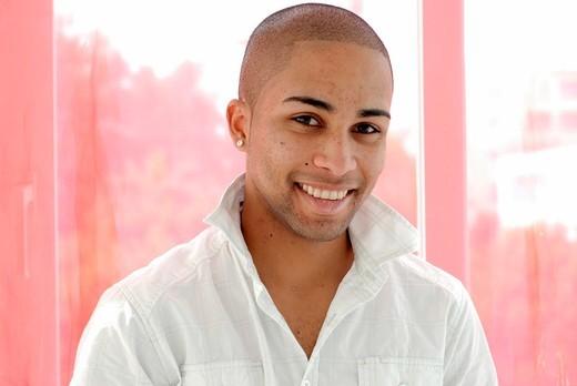 Attractive young mulato man : Stock Photo