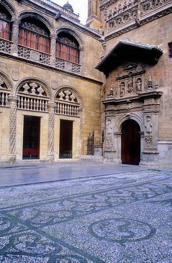 Royal Chapel of the cathedral Facade 16th century Granada  Andalucia, Spain : Stock Photo
