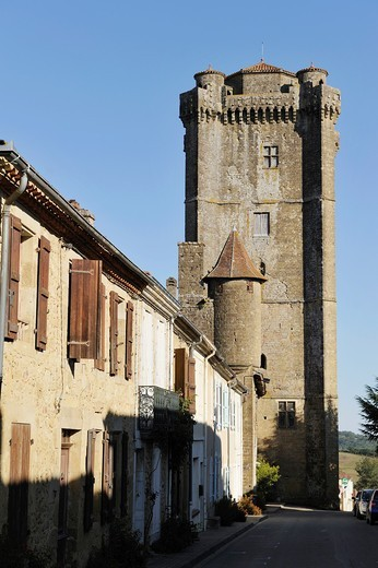Stock Photo: 1566-908900 tower, Bassoues Gers department, Midi-Pyrenees, southwest of France, Europe