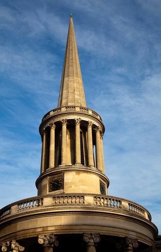 Stock Photo: 1566-909407 All Souls Church designed by John Nash on Langham Place - London - UK