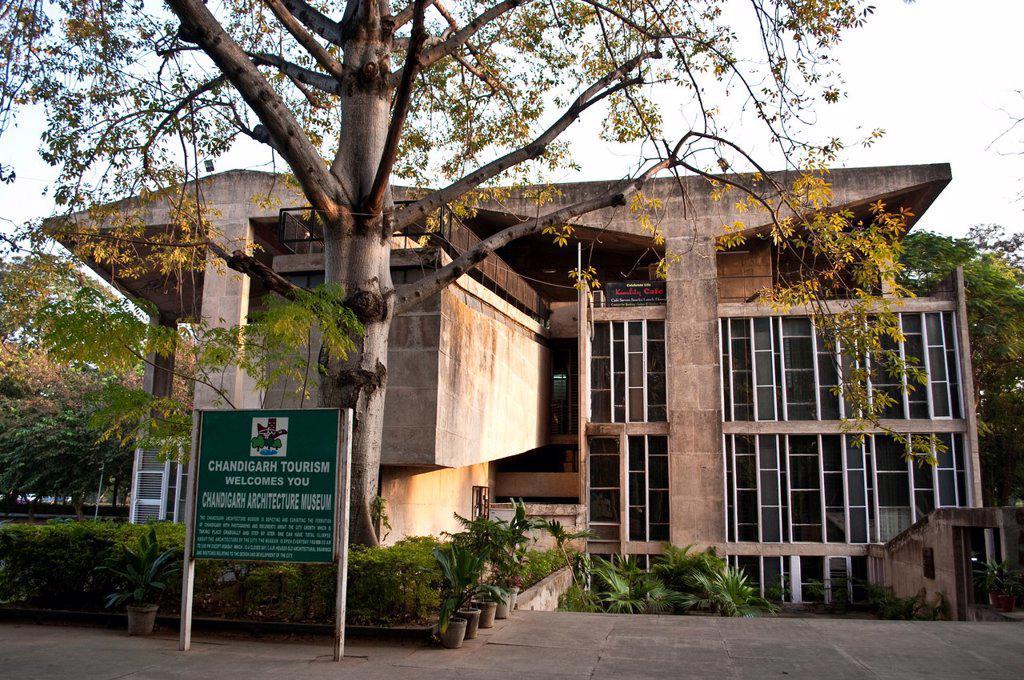 Stock Photo: 1566-909809 Architecture Museum, Chandigarh, India