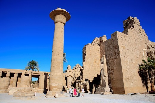 Amun-Re temple, Karnak, Egypt : Stock Photo