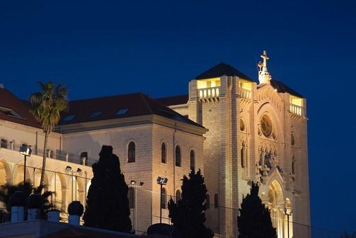 Israel, The Galilee, Nazareth, Silesian Church of Jesus the Adolescent : Stock Photo