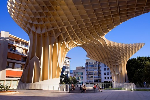 Metropol Parasol,in Plaza de la Encarnación,Sevilla,Andalucía,Spain : Stock Photo