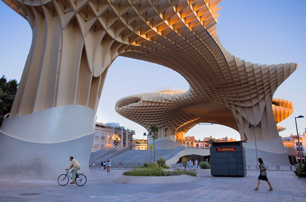 Stock Photo: 1566-912066 Metropol Parasol,in Plaza de la Encarnación,Sevilla,Andalucía,Spain