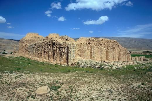 Stock Photo: 1566-912078 Palace of Sassanian king Ardashir I 230, near Firouzabad Firuzabad, Fars province, Iran